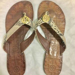 Tory Burch Sandals- snakeskin